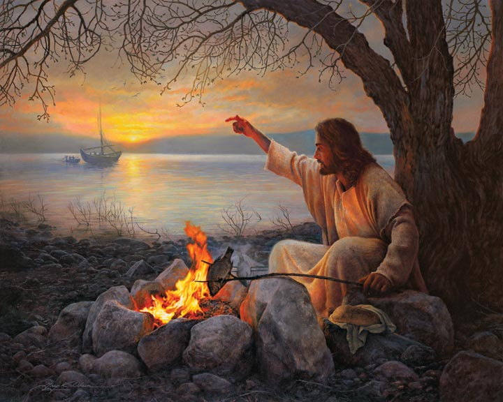 Jesus and the charcoal